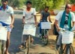 திருப்பத்தூர் டூ அலங்காநல்லூர்..! ஜல்லிக்கட்டுக்காக சைக்கிள் பயணம்!