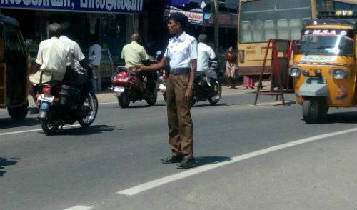 Amutha Srivilliputhur Traffic Poilice