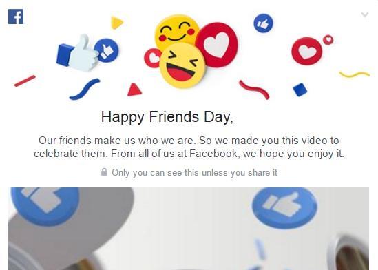 ஃபேஸ்புக் friend's day video