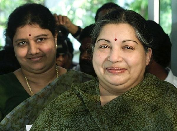 Sasikala with Jayalalithaa