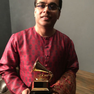 Sandeep Das with Grammy Award