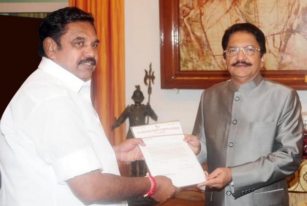 Edappadi Palanisamy with Governor
