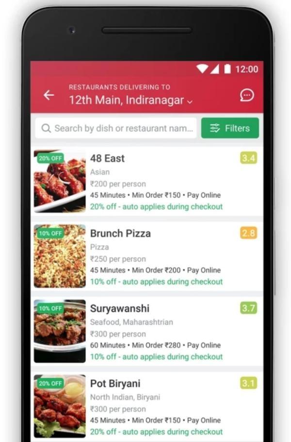 சொமேட்டோ ஆர்டரிங் ஆப் Zomato food ordering