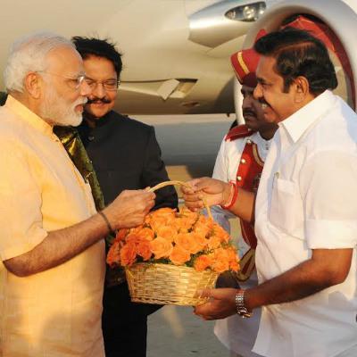 Edappadi Palanisamy meets Modi