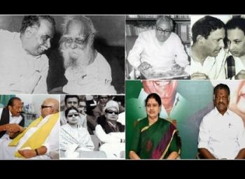 அண்ணா முதல் ஓ.பன்னீர்செல்வம் வரை - தமிழக அரசியல் பிளவுகள்! #OPSvsSasikala