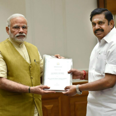 CM Edappadipalanisami with Modi