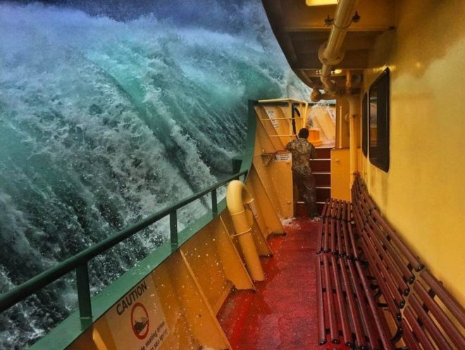 Dramatic wave in australia