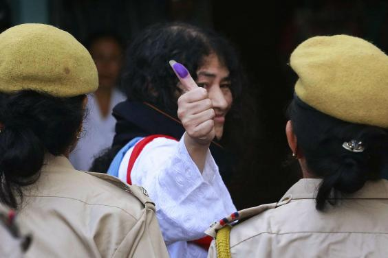 Irom Sharmila to quit Politics - Photo AP