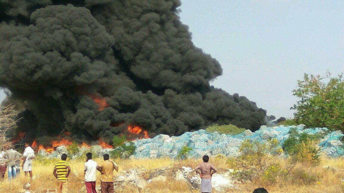 Fire accident Palladam cotton mill