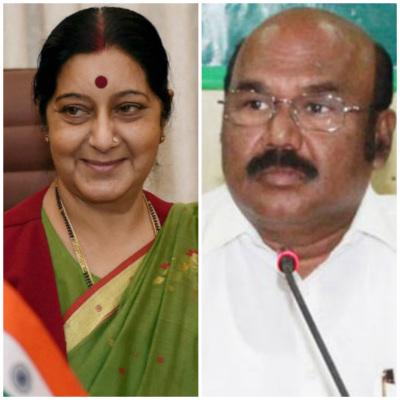 Jayakumar meets Sushma Swaraj