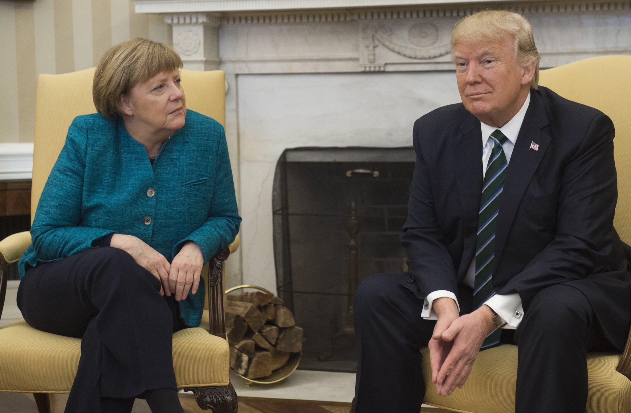 Trump, Angela Merkal