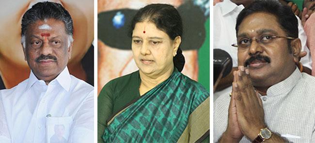 ஓ.பன்னீர்செல்வம், சசிகலா, டி.டி.வி.தினகரன்
