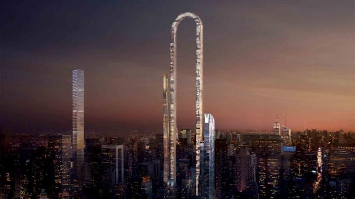 U-shaped skyscraper
