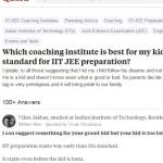 10 வயது மகனுக்கு ஐஐடி கோச்சிங் பற்றி கேட்ட தந்தை...கலாய்த்துத் தள்ளிய நெட்டிசன்கள்! #IITcoaching