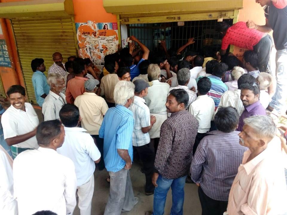 Heavy Crowed in TN Tasmac Shops