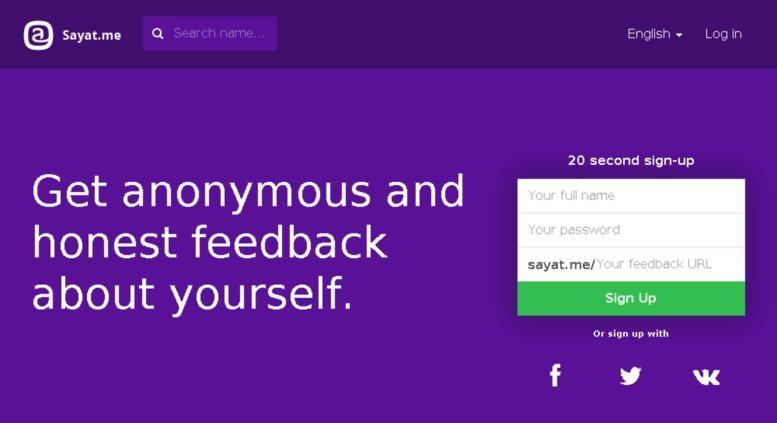 Sayat me - Web Page