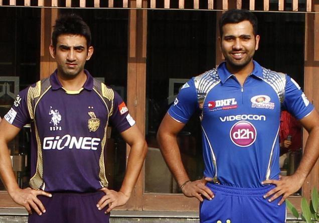 மும்பை இந்தியன்ஸ் ரோஹித் ஷர்மா vs கொல்கத்தா நைட் ரைடர்ஸ் கம்பீர்
