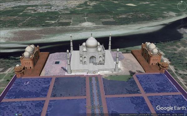 தாஜ்மஹால் 3D படம்
