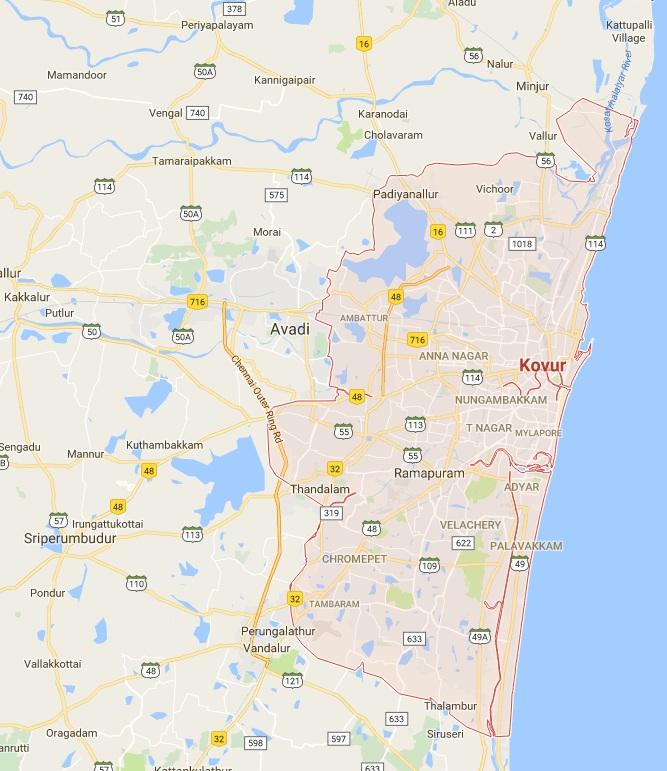 Google Maps Chennai