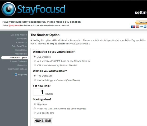 StayFocusd Extension