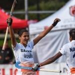 பெண்கள் உலக ஆக்கி லீக் : இரண்டாவது சுற்றின் சாம்பியன் ஆனது இந்திய அணி!!