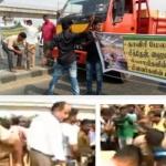 விவசாயிகளுக்கு ஆதரவாக கத்திப்பாராவில் போராட்டம் : ஸ்தம்பித்தது சென்னை!