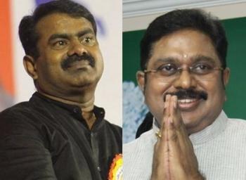'25 லட்ச ரூபாய் இழப்பீடு கொடுங்கள் தினகரன்!' - ஆர்.கே.நகர் கணக்கு சொல்கிறார் சீமான் #VikatanExclusive