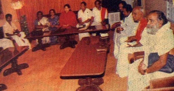கூட்டணி கட்சித் தலைவர்களுடன் ஜெயலலிதா