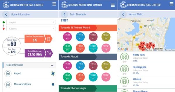 chennai metro rail official app