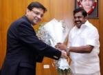 முதல்வர் பழனிசாமி- ரிசர்வ் வங்கி ஆளுநர் திடீர் சந்திப்பு!