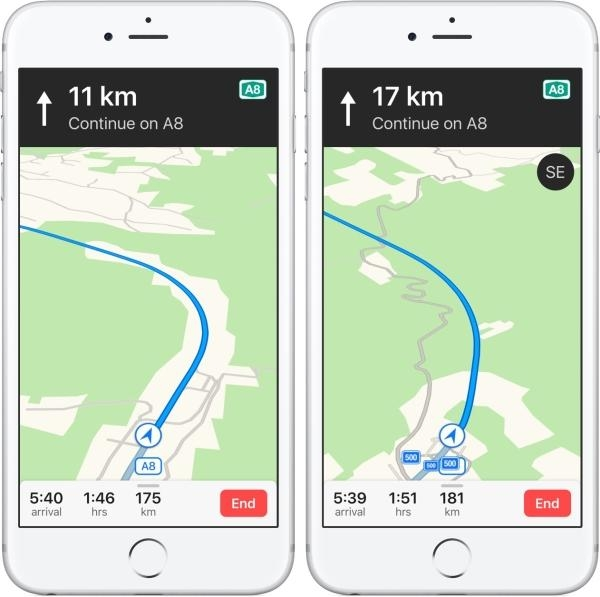 ஆப்பிள் iOS 11 மேப்ஸ்