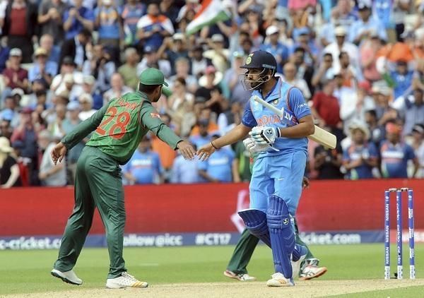 Bangladesh player congrats Rohit