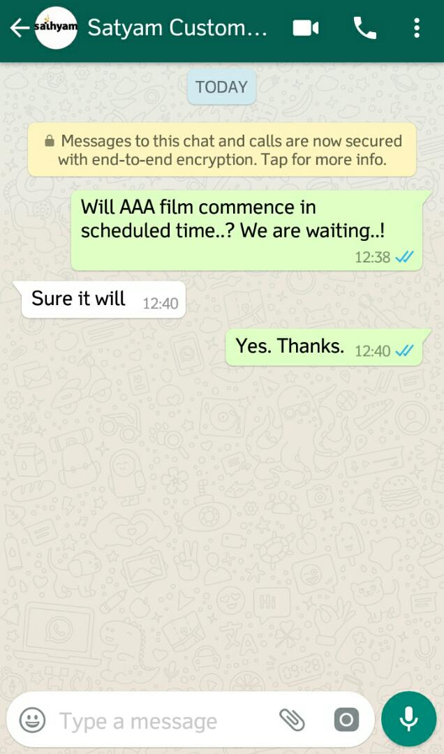 sathyam theatre reply