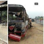 உத்தரப்பிரதேசத்தில் பேருந்தும் லாரியும் மோதி விபத்து - 22 பேர் பலி..!