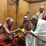சங்கராச்சாரியாரிடம் ஆசி பெற்றார் ஜனாதிபதி பிரணாப்..!