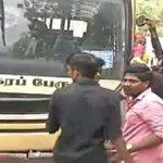 சென்னையில் தடையை மீறி கல்லூரி மாணவர்கள் பஸ் டே கொண்டாட்டம்!