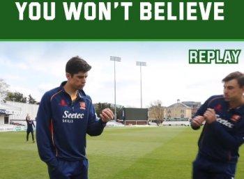 வைரல்: இங்கிலாந்து வீரர் குக்கின் மேஜிக் கேட்ச்!
