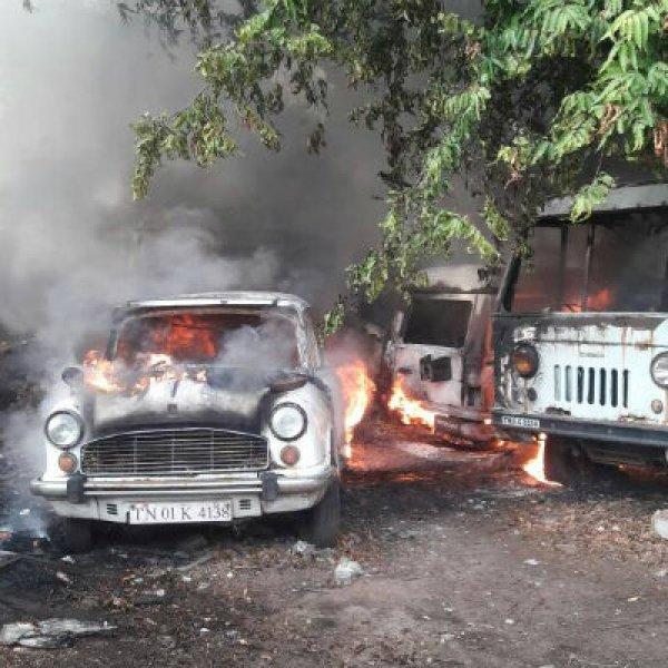 சென்னை டி.பி.ஐ வளாகத்தில் தீ விபத்து!