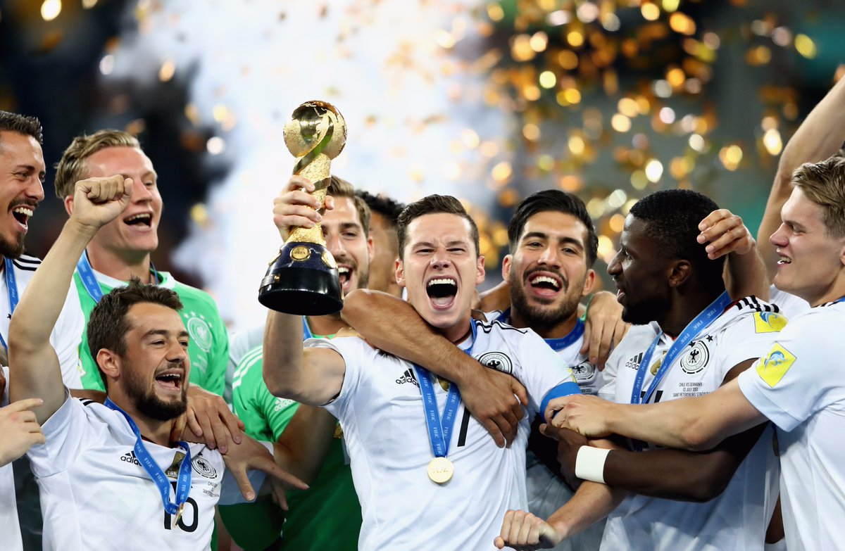Germany with  confederation cup