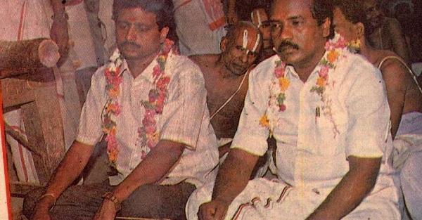 கும்பாபிஷேகத்தின் போது திவாகரன்