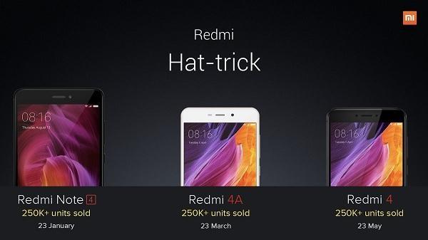 ஜியோமி - Redmi Note 4 - Redmi 4A - Redmi 4