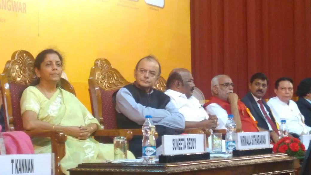 சென்னைப் பல்கலைக்கழக ஜி.எஸ்.டி கருத்தரங்கில் அருண் ஜெட்லி