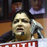 'ஸ்ருதிஹாசனைப் பற்றி நான் ஏன் பேச வேண்டும்?' - கொதிக்கும் குஷ்பு