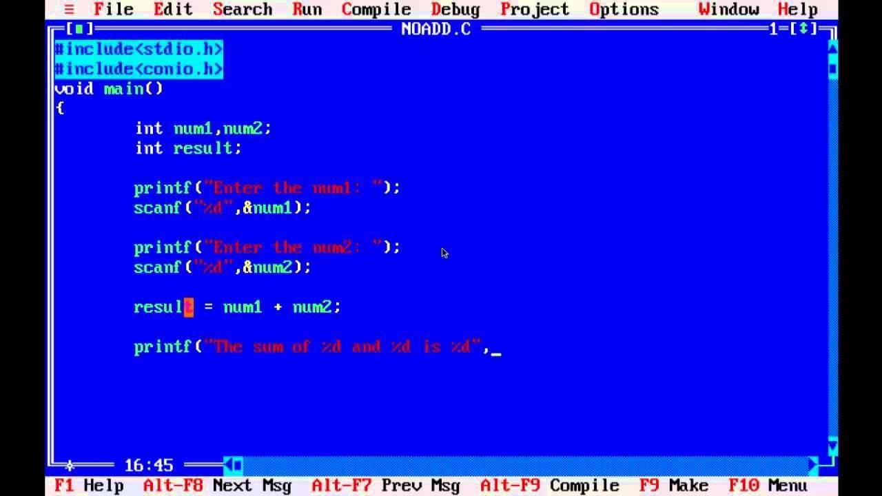 C Programming Language Code
