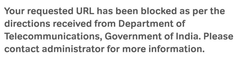 URL Blocked Info