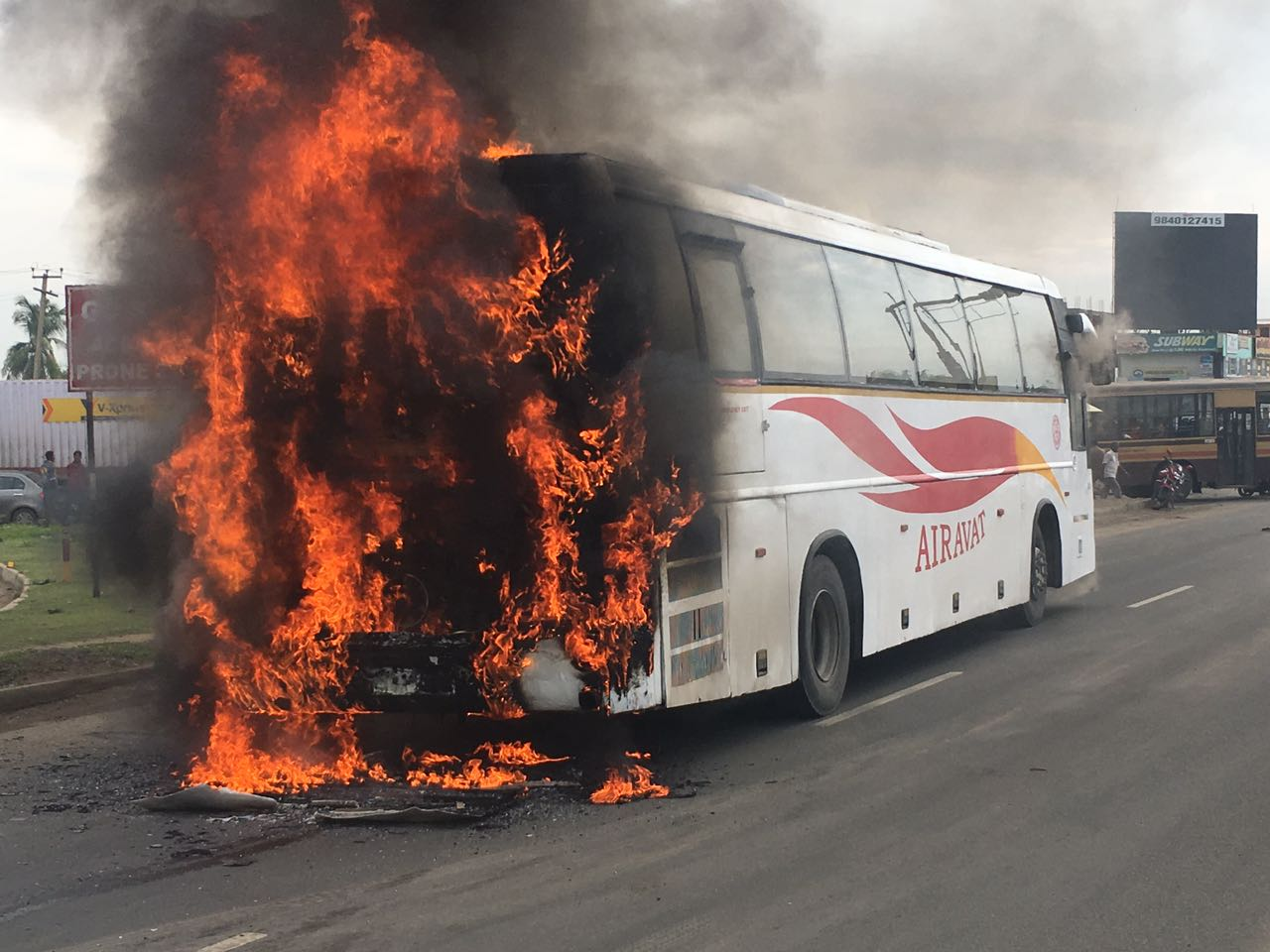 bus fire accident