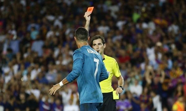 Ronaldo send off