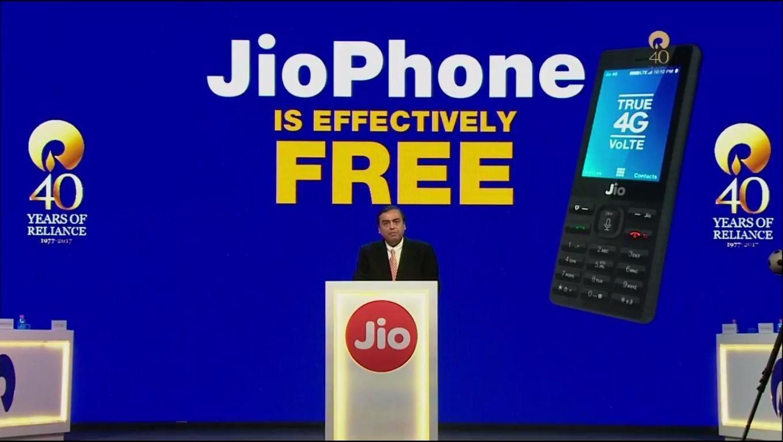 Mukesh Ambani @ JioPhone Launch