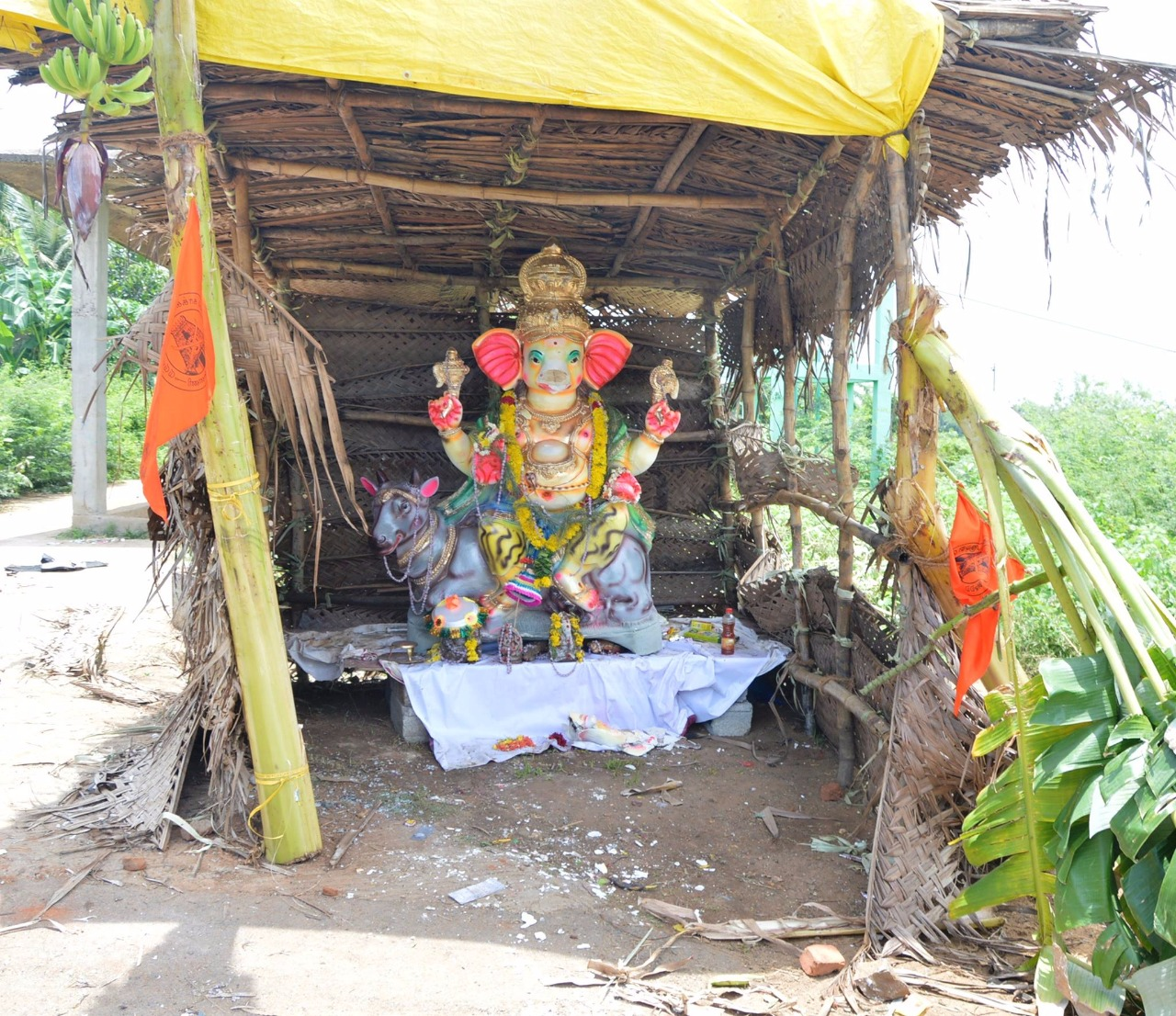 நல்லூரில் வைக்கிப்பட்டிருந்த விநாயகர் சிலை