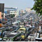சென்னை ஜி.எஸ்.டி சாலையில் கடும் போக்குவரத்து நெரிசல்